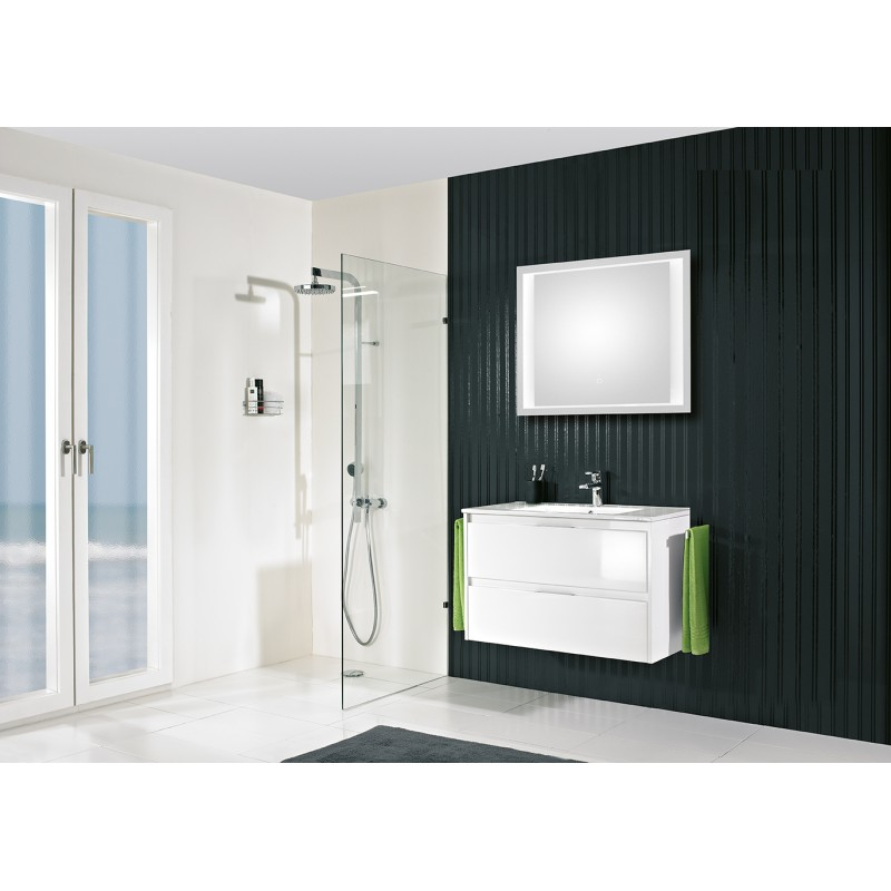 meuble de salle de bain pelipal calypsos de 90 cm blanc calypsos blok 90 2w. Black Bedroom Furniture Sets. Home Design Ideas