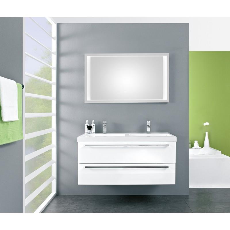 Meuble de salle de bain pelipal cubic de 120 cm blanc - Meuble salle de bain 70 cm largeur ...
