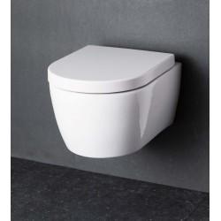 Wc suspendue Banio design-Ray Blanc Compact - 49x37x35 cm