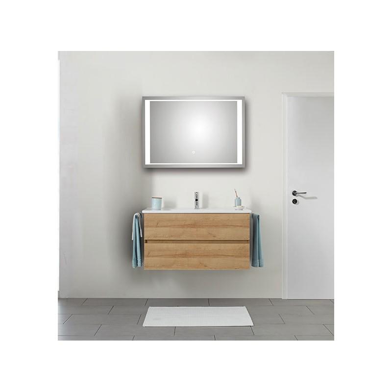 pelipal valencia keramische wastafel met onderkast 2 laden spiegel met led verlichting. Black Bedroom Furniture Sets. Home Design Ideas