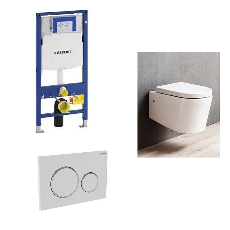 Pack geberit duofix up 320 avec cuvette honk sans bride - Wc suspendu sans bride ...