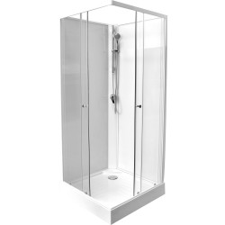 Banio design-Adrio cabine de douche complet 80x80x207 cm sans silicone