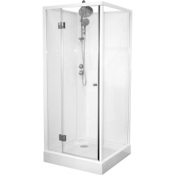 Banio Catua cabine de douche complet avec porte pivotante 90 x 90 x 222,5 cm