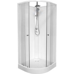 Banio Design-Lucca cabine de douche complet quart de rond 90 x 90 x 222,5 cm