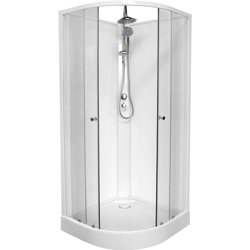Banio design lucca cabine de douche complet quart de rond - Cabine de douche quart de cercle 90x90 ...