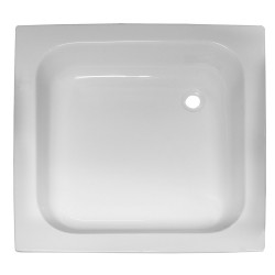 Banio douchebak in witte acryl 80x80x15 cm