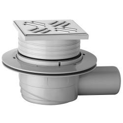 Banio Bondes de douche Onega en ABS: sortie vertical hauteur réglable grille en inox