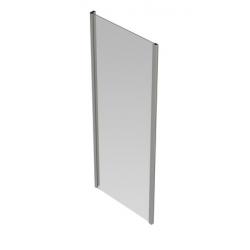 Banio-Belu vaste wand met verchroomde aluminium profielen en 6mm easy clean glas - Afmetingen 80x190cm