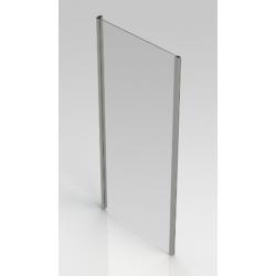 Banio-Belu paroi fixe avec profils alu chromés et 6mm verre easy clean - Mesures 90x190cm