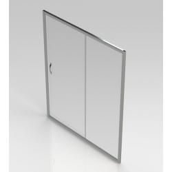 Banio-Belu schuifdeur met verchroomde aluminium profielen en 6mm easy clean glas - Afmetingen 160x190cm