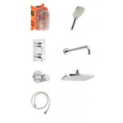 Damixa Pine HS 1 - Système de thermostat de douche encastré - Chromé