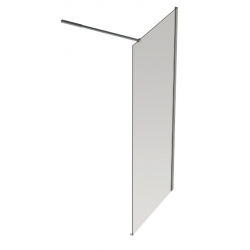 Banio Design Anna Paroi fixe avec verre transparent 6mm easy clean - 120x200cm.