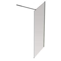 Banio Design Diane Paroi fixe avec verre transparent 8mm easy clean - 160 X 200cm