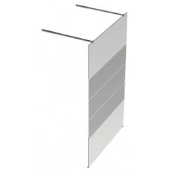 Banio Design Jone Vrijstaande vaste wand met helder easy clean glas 8mm met decor - 120X200cm