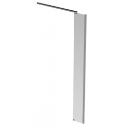 Banio Design Anna Paroi latérale avec verre transparent 6mm easy clean et profil d'angle en aluminium chromé - 30X200cm