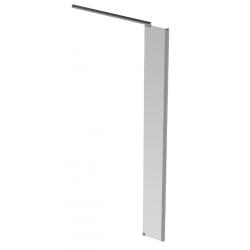 Banio Design Anne Paroi latérale avec verre transparent 6mm easy clean et profil d'angle en aluminium chromé - 30X200cm