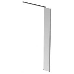 Banio Design Diana Paroi latérale avec verre transparent 8mm easy clean et profil d'angle en aluminium chromé - 30X200cm