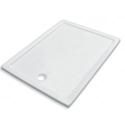 Banio Design Eden Receveur de douche en acrylique - 100x80x3 cm - Blanc