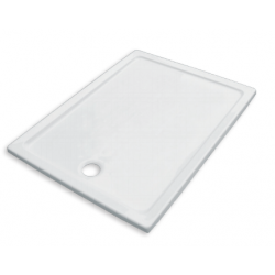 Banio Design Edes Receveur de douche en acrylique - 120x80x3 cm - Blanc