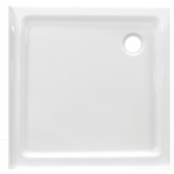 Banio Design Edes plus Douchebak in acryl met 2 randen - 80x80x6cm - Wit