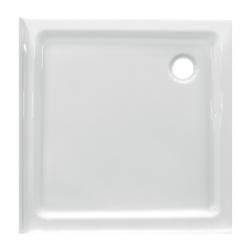 Banio Design Edenplus Receveur de douche en acrylique avec 3 bords - 80x80x6cm - Blanc