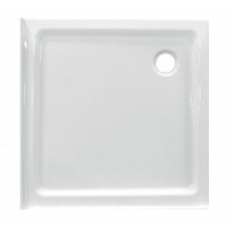 Banio Design Edes plus Receveur de douche en acrylique avec 2 bords - 90x90x6cm - Blanc