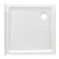 Banio Design Edes plus Receveur de douche en acrylique avec 3 bords - 90x90x6cm - Blanc