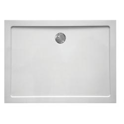 Banio Design Helios Receveur de douche en composite synthétique - 80x80x3,5cm - Blanc