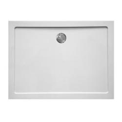 Banio Design Helion Receveur de douche en composite blanc diamètre de 90 mm - 120x80x3,5cm.