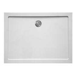 Banio Design Helion Receveur de douche en composite synthétique blanc diamètre de 90 mm - 140x80x3,5cm