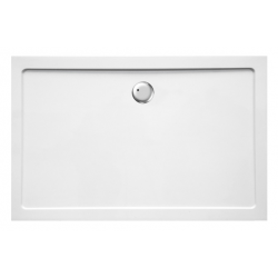 Banio Design Helion Receveur de douche en composite synthétique blanc diamètre de 90 mm - 140x90x3,5cm