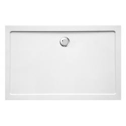 Banio Design Helios Receveur de douche en composite synthétique blanc diamètre de 90 mm - 140x90x3,5cm