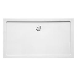 Banio Design Helios Receveur de douche en composite synthétique blanc diamètre de 90 mm - 160x90x3,5cm