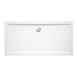 Banio Design Helion Receveur de douche en composite synthétique blanc diamètre de 90 mm - 180x90x3,5cm