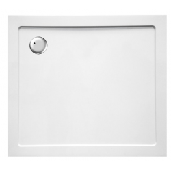Banio Design Helion Receveur de douche en composite synthétique blanc diamètre de 90 mm - 100x90x3,5cm