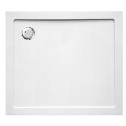 Banio Design Helios Receveur de douche en composite synthétique blanc diamètre de 90 mm - 100x90x3,5cm