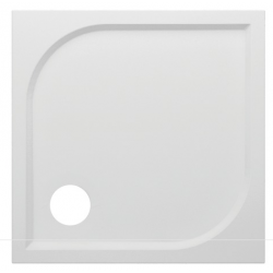 Banio Design Argon Receveur de douche en polybeton gelcoat blanc - 90x90x3cm