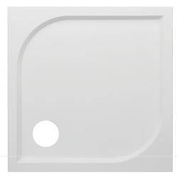 Banio Design Argos Receveur de douche en polybeton gelcoat blanc - 90x90x3cm
