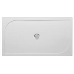 Banio Design Argon Receveur de douche en polybeton gelcoat Blanc - 120x80x3cm