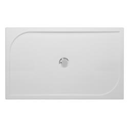 Banio Design Argos Receveur de douche en polybeton gelcoat Blanc - 120x90x3cm