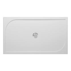 Banio Design Argos Receveur de douche en polybeton gelcoat Blanc - 140x80x3cm
