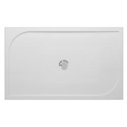 Banio Design Argos Douchebak in polybeton gelcoat Wit - 140x90x3cm