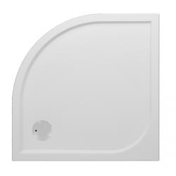 Banio Design Argon Receveur de douche quart de rond en polybeton gelcoat Blanc - 90x90x3cm