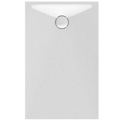 Banio Design Proton Tub de douche en solid surface Blanc - 120X80x3,5cm