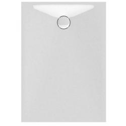 Banio Design Proton Tub de douche en solid surface Blanc - 120x90x3,5