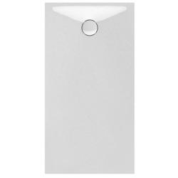 Banio Design Proton Tub de douche en Solid surface Blanc 140x80x3,5cm