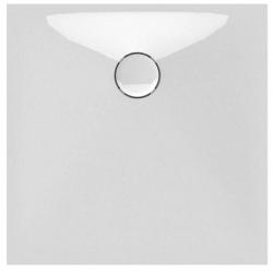 Banio Design Proton Receveur de douche en solid surface Blanc - 80x80x3,5cm