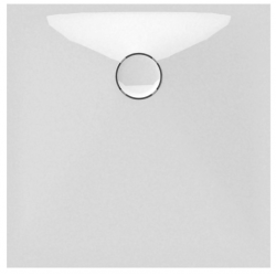 Banio Design Protos Douchebak in solid surface Wit - 80x80x3,5cm