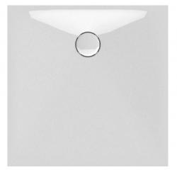 Banio Design Proton Receveur de douche en solid surface Blanc - 90x90x3,5cm