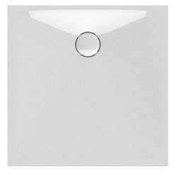 Banio Design Protos Receveur de douche en solid surface Blanc - 90x90x3,5cm